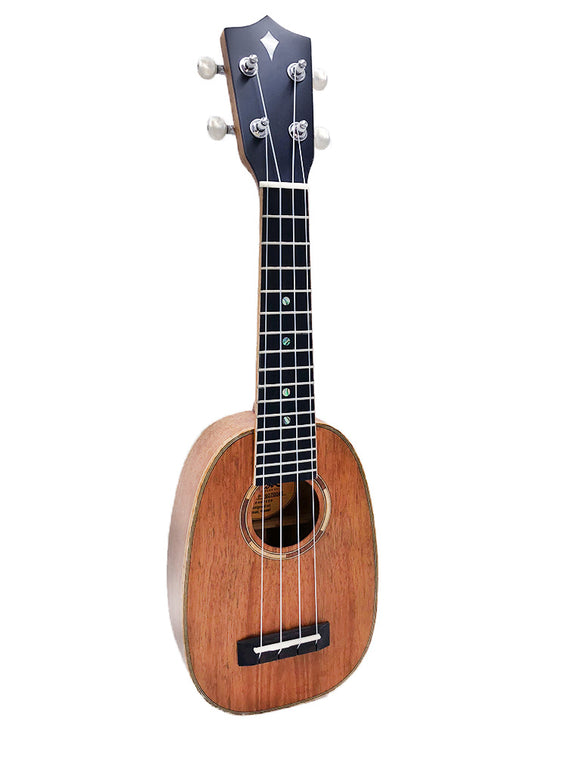 ALL NEW Kamoa® M5-P Deluxe (Ebony)- Pineapple Soprano (100% Solid Wood)