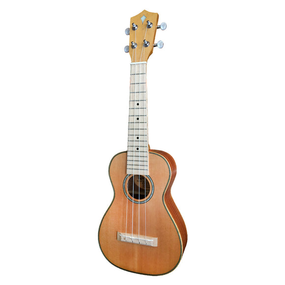 ALL NEW Kamoa® E5-C [CONCERT] (100% solid wood Cedar top) FREE SHIPPING in USA PROMOCODE [SHIPFREE]