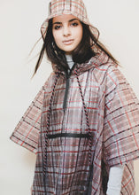 Load image into Gallery viewer, rain check plaid poncho