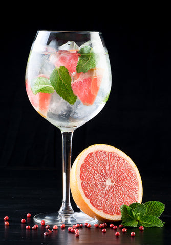 Receta Tourgee Gin and Tonic Pink con Pomelo y Menta
