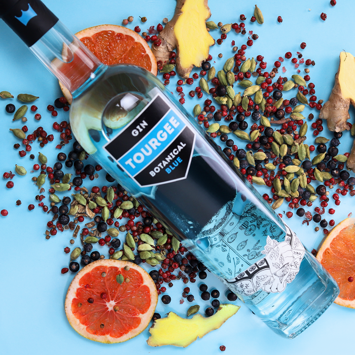 Tourgee gin Botanical Blue