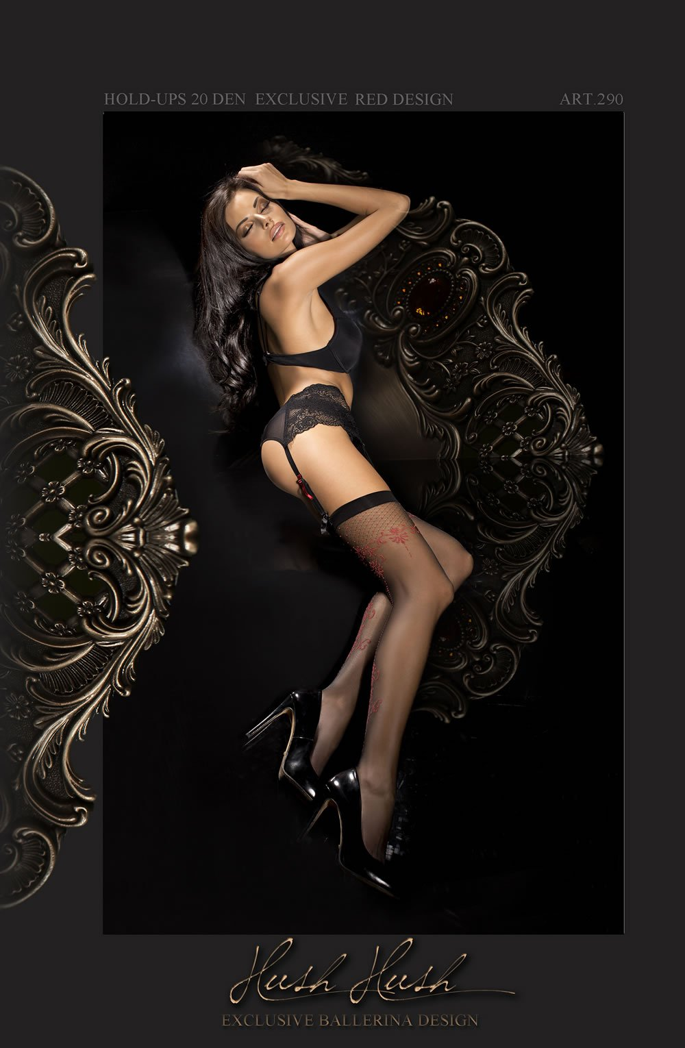 Ballerina 290 Stockings Nero (Black) - Lingerie Best