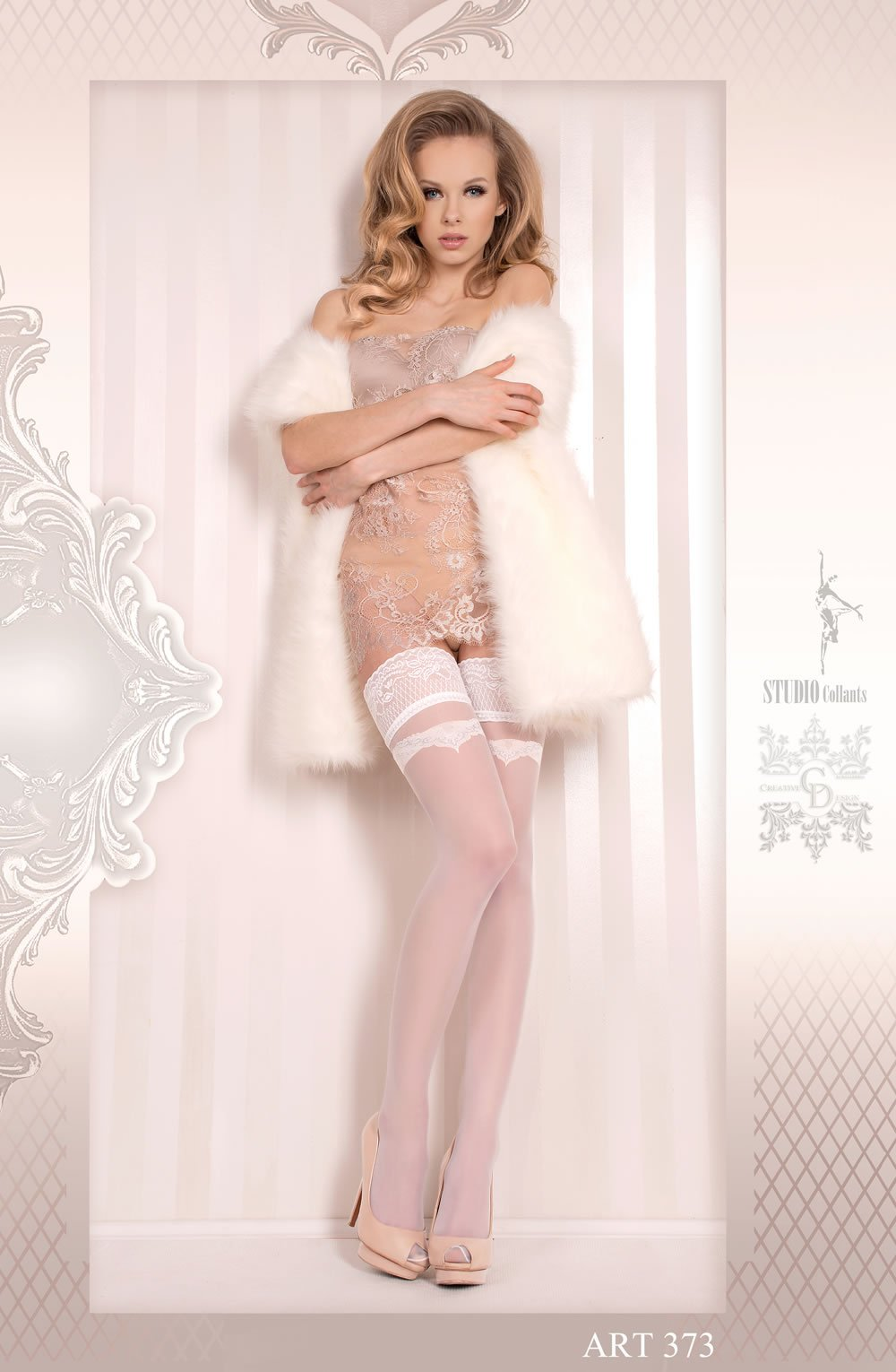 Ballerina 373 Hold Ups Bianco (White) - Lingerie Best