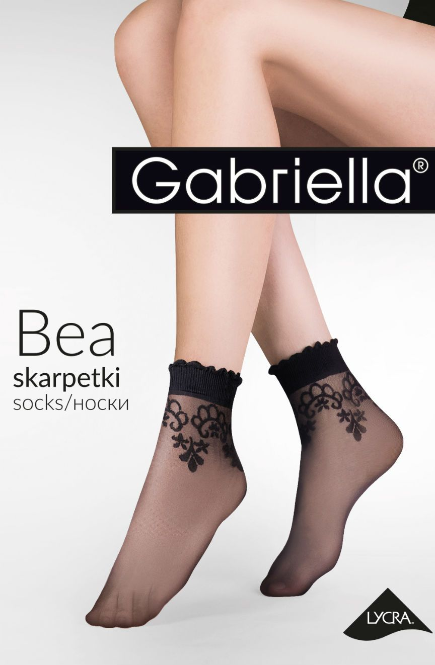 Bea Socks Nero - Nero (Black) / One Size - Lingerie Best