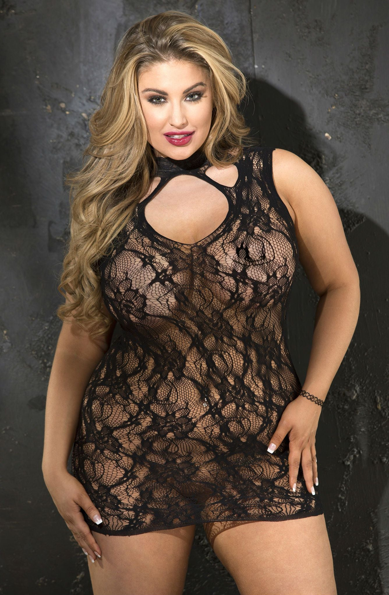 Chemise Black - Black / One Size (Plus) - Lingerie Best