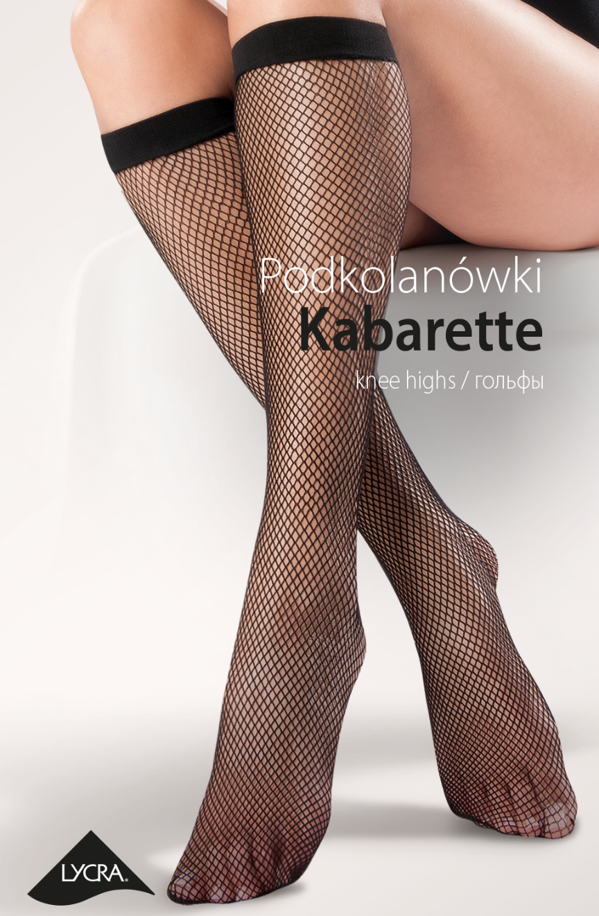 Fishnet Knee Highs Nero - Nero (Black) / One Size - Lingerie