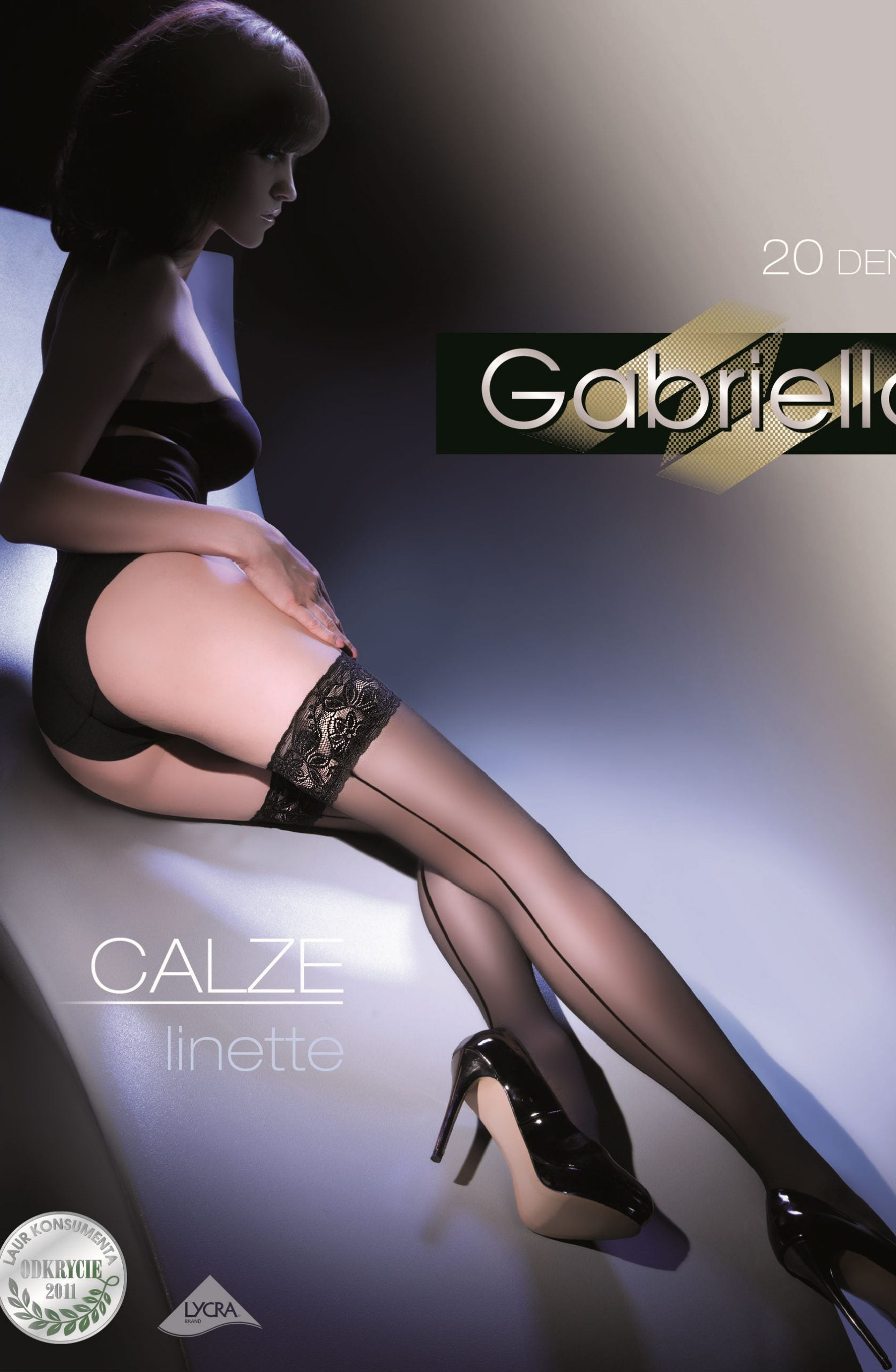 Gabriella Calze Linette 203 Hold Ups Nero - Lingerie Best
