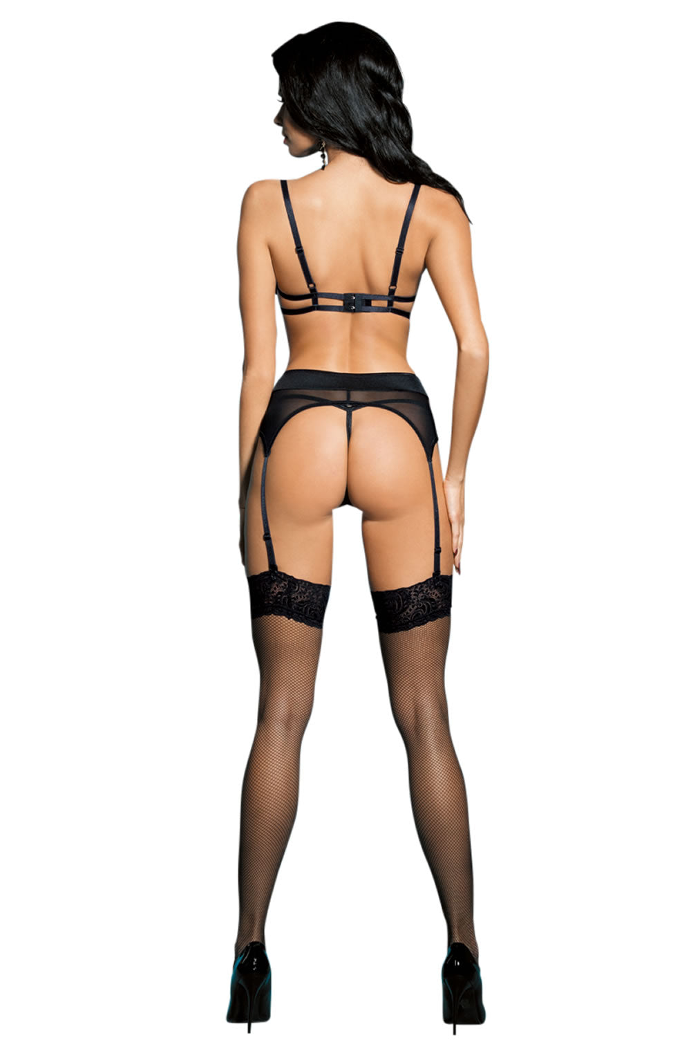 YesX YX926 4 Piece Set Black - Lingerie Best Lingerie Eden