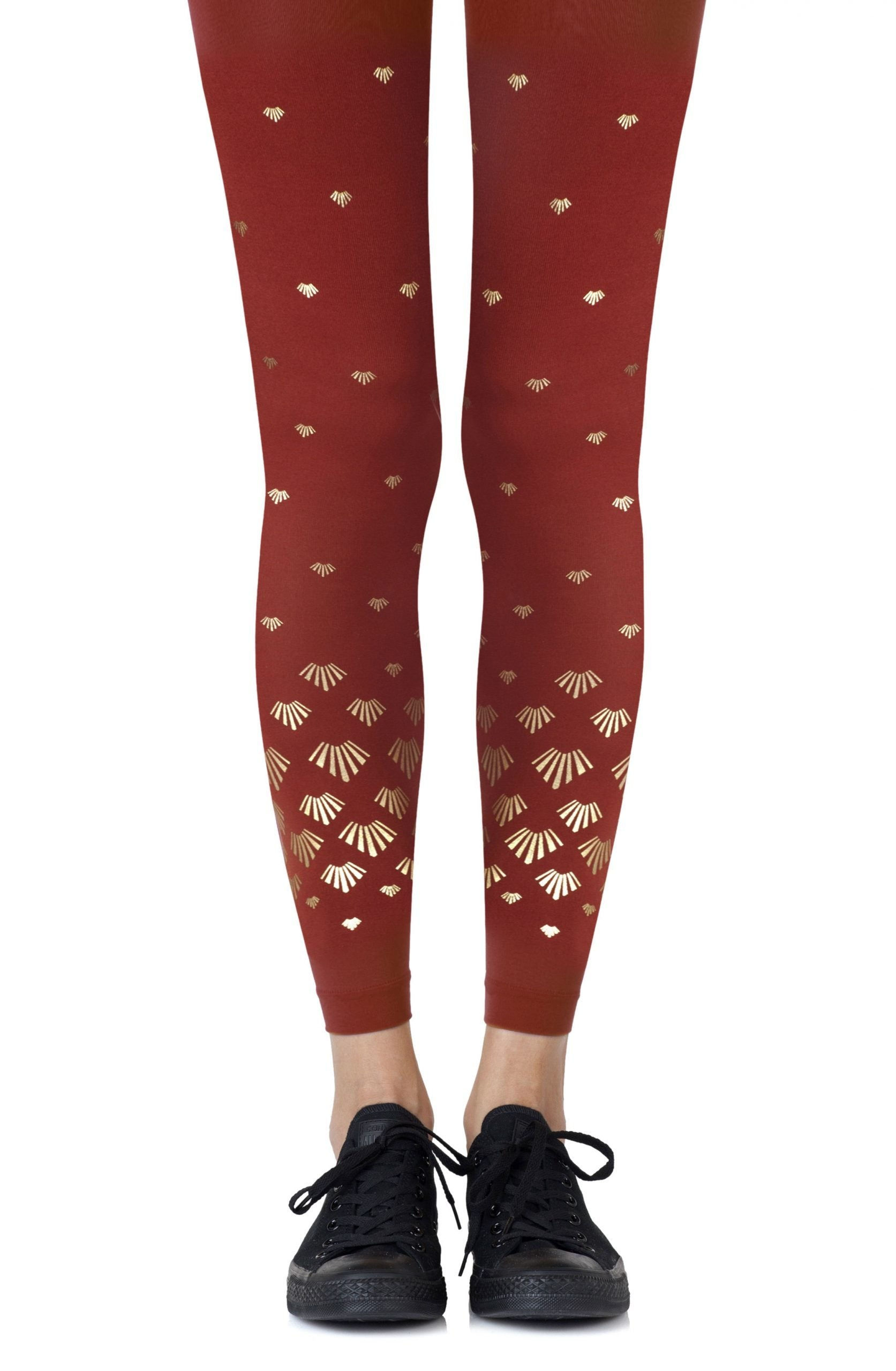 Zohara Shell Out Rust Footless Tights - Lingerie Best