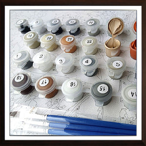 How to paint by number