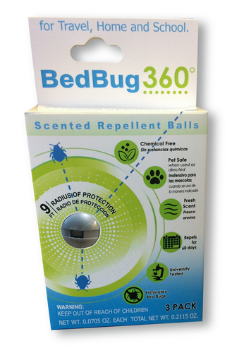 BedBug 360 Repellent Balls-3 Pack-Free Shipping