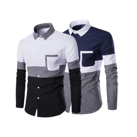 Pack of 2 Slim Fit Premium Quality Designer Party Wear Shirts