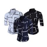 Combo of 3 New fashionable Printed Solid Color Slim Men's Shirts