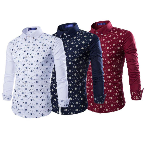 New Branded Men's 3 Printed Cotton Casual Shirts for Men