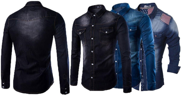 Combo of 3 Fashionable Style long sleeves Casual Slim Fit Wash Style Shirts for Men