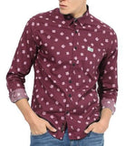 Combo of 4 New Branded Fashionable  Printed Slim Fit Casual Men's Shirts