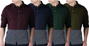 Combo of 4 New Stylish Fashionable Solid Casual Shirts
