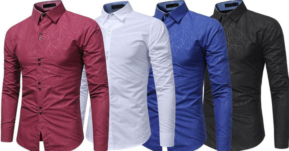 Combo of 4 New Branded Stylish Web Texture shirts for men