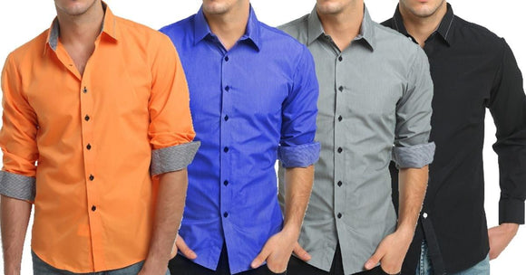 Combo of 4 New Fashionable Simple Style Regular fit Shirts
