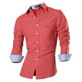 Combo of 4 New Branded Dashing Personality Long Sleeve Casual Slim Fit Check Shirts for Men