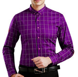 Combo of 4 New Cotton Plaid Long Sleeve Fashionable Shirts for Men