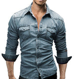 Combo of 4 New High quality Long Sleeve Casual Solid Color Fashionable Slim Fit Shirts for Men