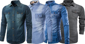 Combo of 4 New Fashion Fashionable Design Men's Slim Fit Jeans Shirts