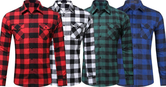 Combo of 4 New Flannel Plaid Soft Comfortable Slim Fit Check Shirts for Men
