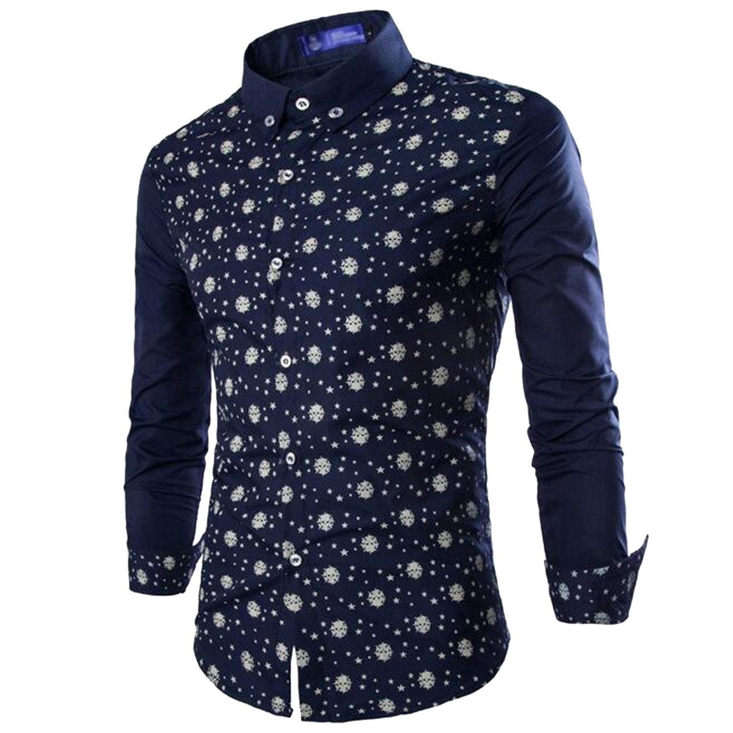61fdfde9 ... New Branded Men's 3 Printed Cotton Casual Shirts for ...