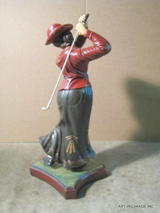 Golf Statue - Classic Woman Driving