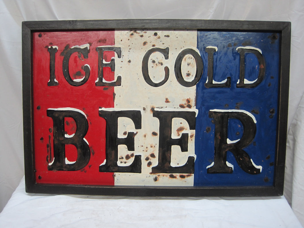 Sign ICE COLD BEER
