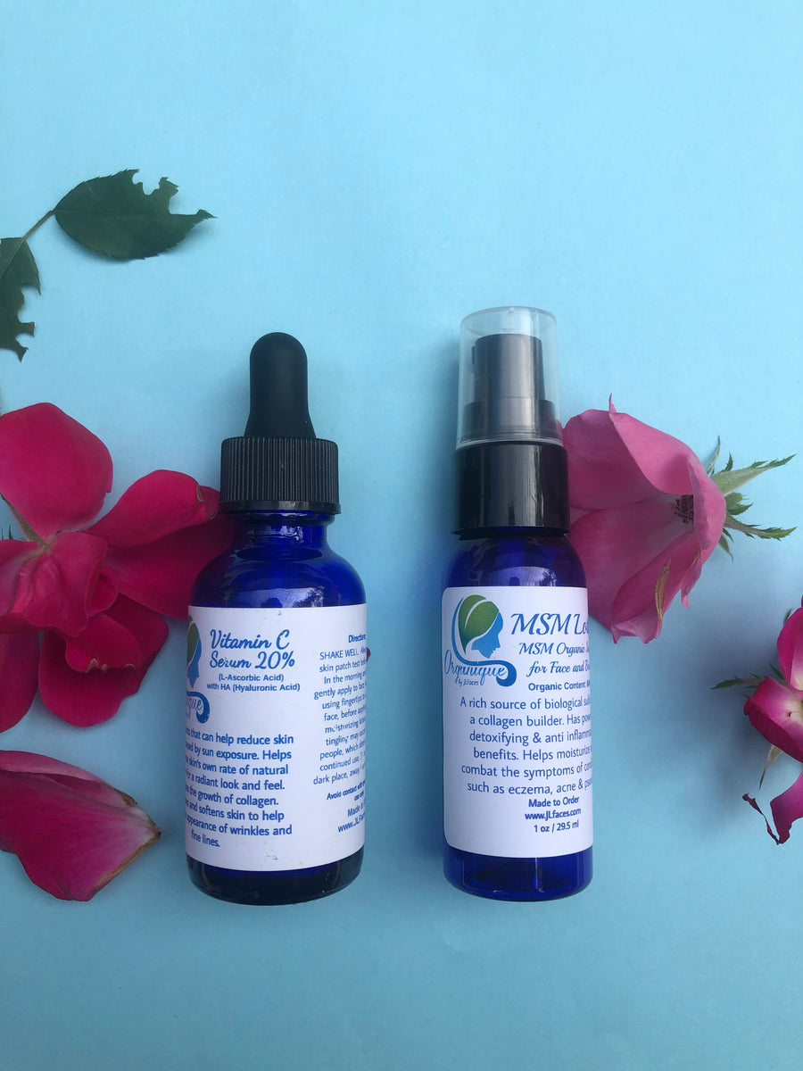 Vitamin C Serum w/HA &  MSM Lotion