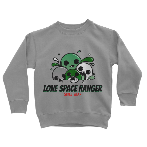 Lone Space Ranger Pine Green Classic Kids Sweatshirt - Lone Space Ranger