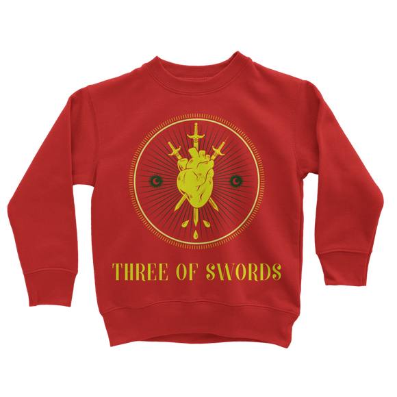 3 Of Swords Ret 6 Classic Kids Sweatshirt - Lone Space Ranger
