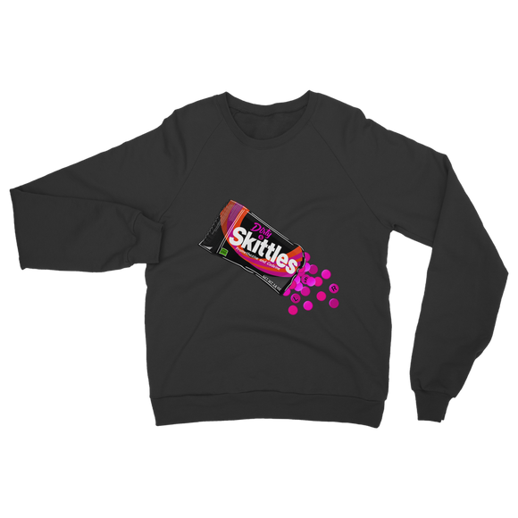 Dirty Skittles Retro 7 (Black) Classic Adult Sweatshirt - Lone Space Ranger