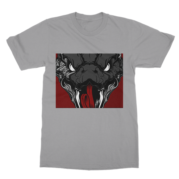 Copy of Snake Head Retro 1 (Gray) Classic Adult T-Shirt - Lone Space Ranger