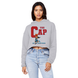 You Cap UNC To Chi (Blue) Unisex Cropped Raw Edge Boyfriend Hoodie - Lone Space Ranger