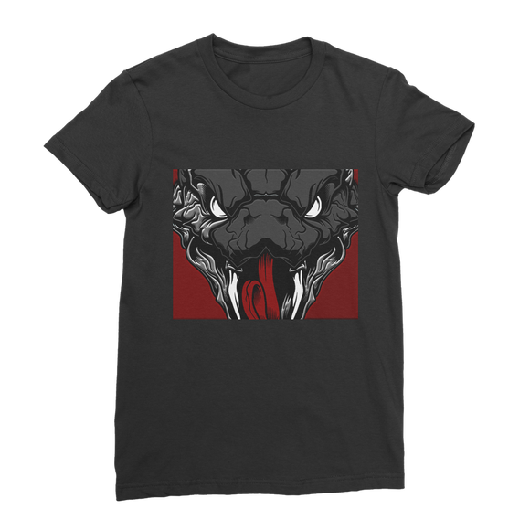 Snake Head Retro 1 (Black) Classic Women's T-Shirt - Lone Space Ranger