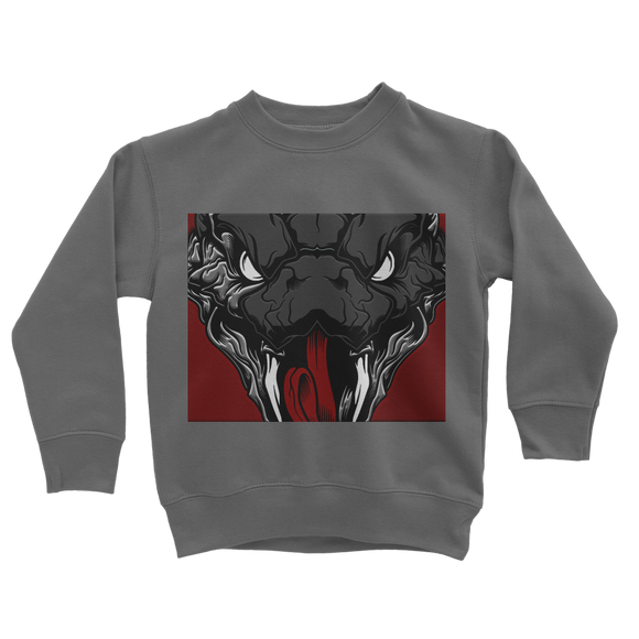 Copy of Snake Head Retro 1 (Gray) Classic Kids Sweatshirt - Lone Space Ranger