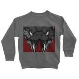 Copy of Snake Head Retro 1 (Gray) Classic Kids Sweatshirt