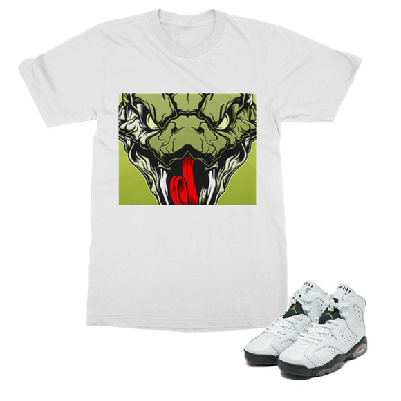 Retro 6 Alligator Snake Head (White) - Lone Space Ranger