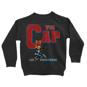 You Cap UNC To Chi (Blk/White) Classic Kids Sweatshirt