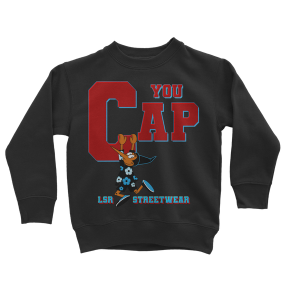 You Cap UNC To Chi (Blk/White) Classic Kids Sweatshirt - Lone Space Ranger