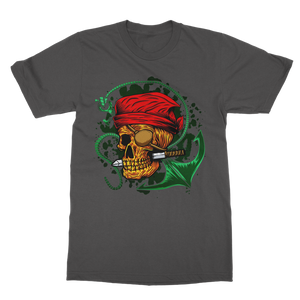 Skull & Anchor Pine Green Classic Adult T-Shirt - Lone Space Ranger