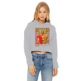 Narcos Ladies Cropped Raw Edge Hoodie - Lone Space Ranger