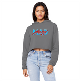 Mad Money UNC To Chi (Gray) Unisex Cropped Raw Edge Boyfriend Hoodie - Lone Space Ranger