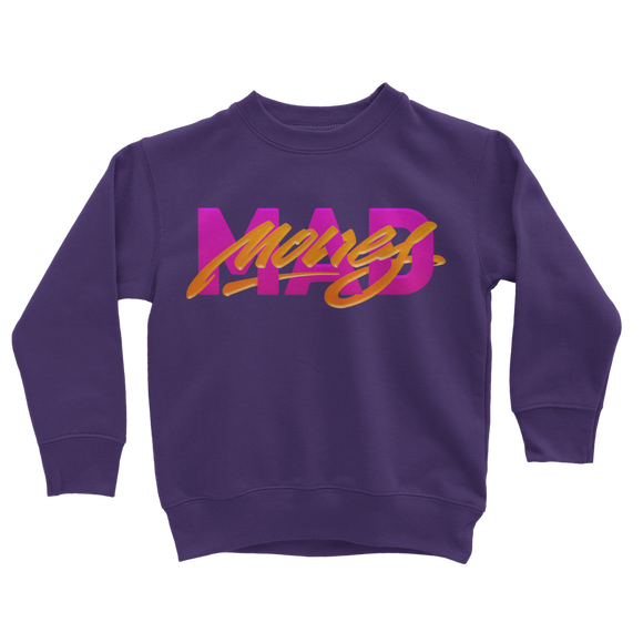 Mad Money Retro 7 (Purple) Classic Kids Sweatshirt - Lone Space Ranger