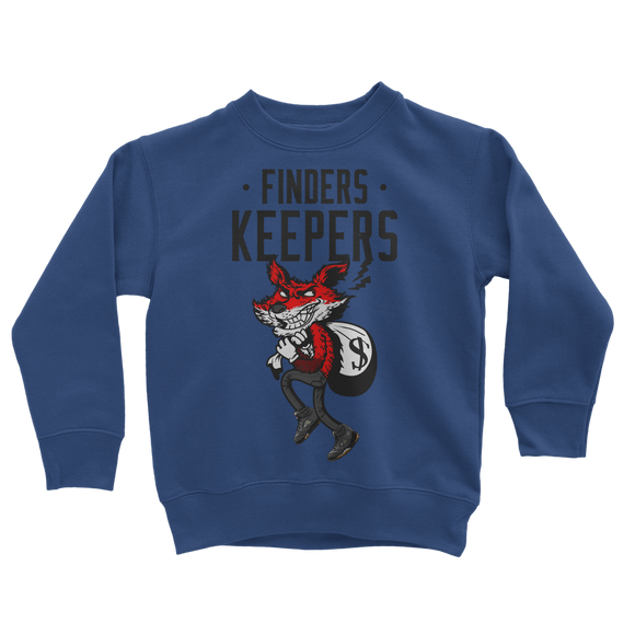 Finders Keepers Metallic Classic Kids Sweatshirt - Lone Space Ranger