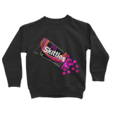 Dirty Skittles Retro 7 (Black) Classic Kids Sweatshirt - Lone Space Ranger