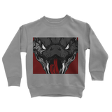 Snake Head Retro 1 (Black) Classic Kids Sweatshirt - Lone Space Ranger